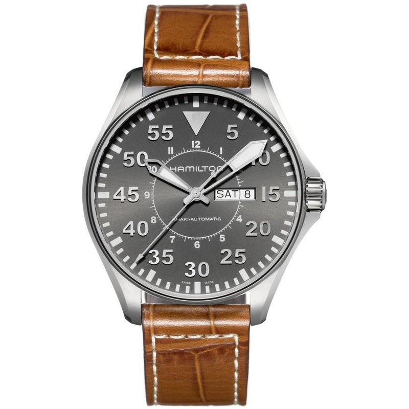 Khaki Aviation Pilot Day Date Automatic