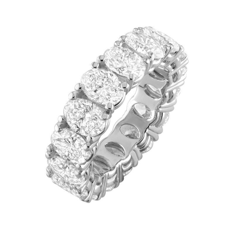 18kt White Gold Oval Diamond Eternity Band