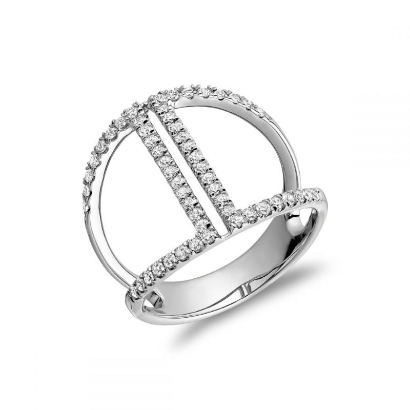 14kt White Gold Diamond Split Ring