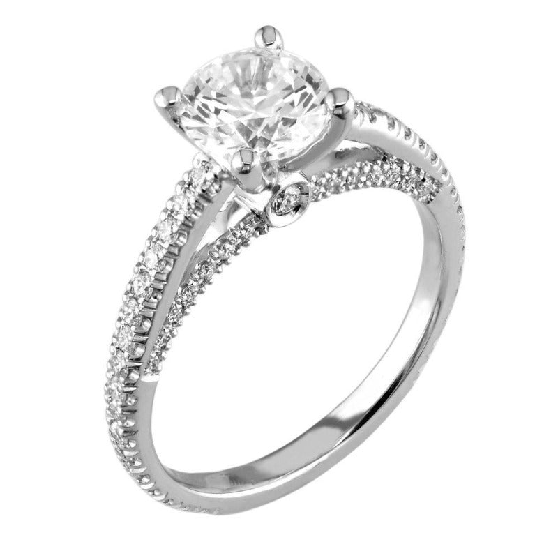 18kt White Gold Optic Set Diamond Ring