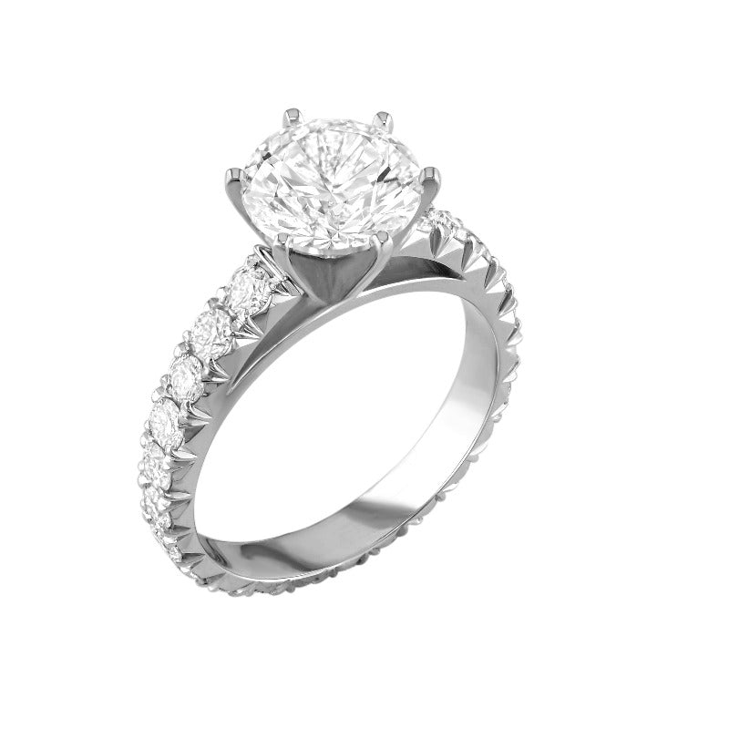 18kt White Gold Optic Set Diamond Ring Setting
