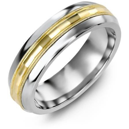 8.5mm Cobalt Tiffany 14K Yellow Gold Ring