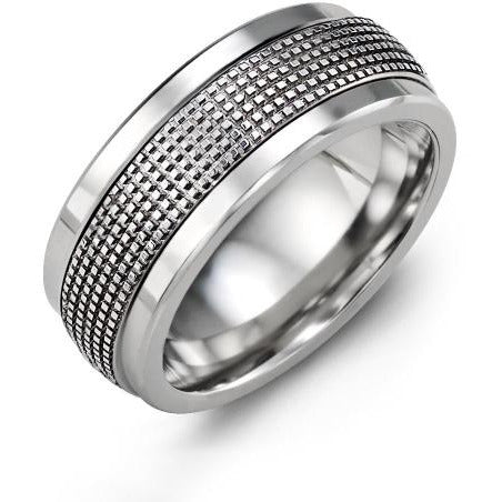 9mm Cobalt 14K White Gold Ring