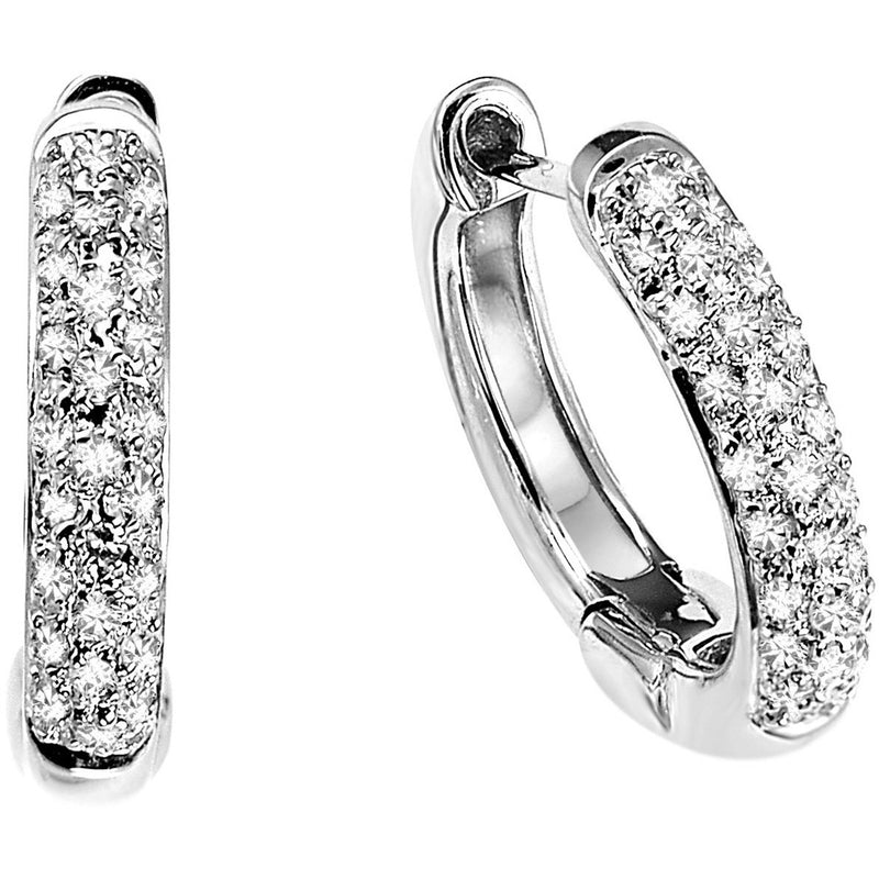 Pave Diamond Huggie Earrings - 0.27ct