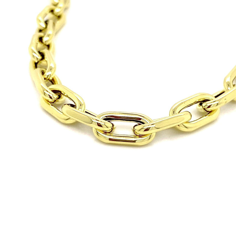 18kt Yellow Gold Puff Paperclip Necklace