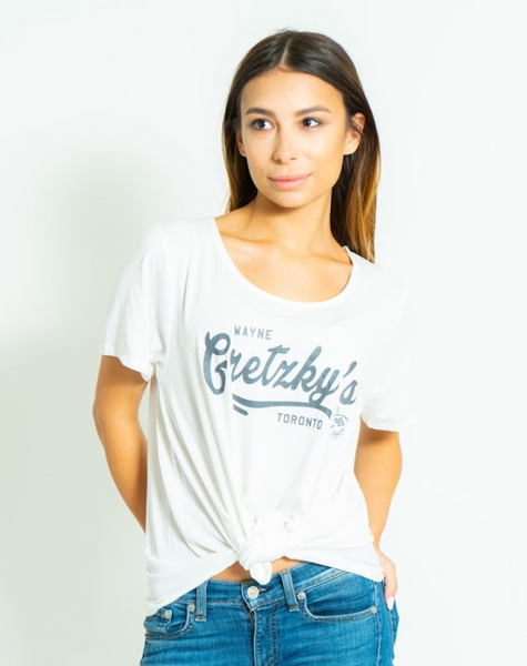 Ladies Oversized Cream T-Shirt