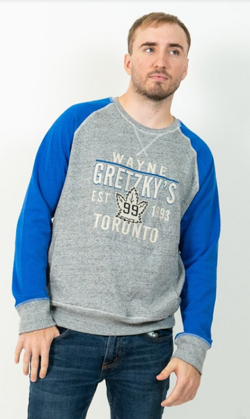 Men's Crewneck with Blue Sleeves