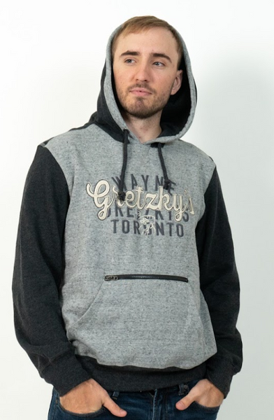 Men's Grey Hoodie with Front Pocket