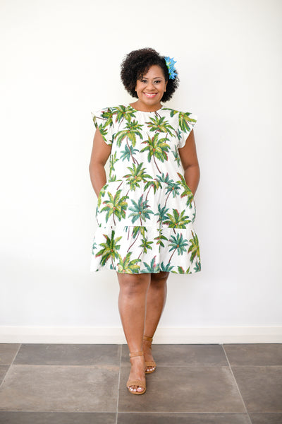 Sandy Dress - Palm Print