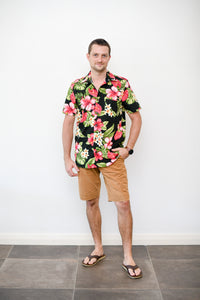 Mens Shirt in tropical print - Malia Clothing Fiji - Made in Fiji