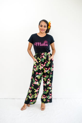 Palazzo Pants in tropical print - Malia Clothing Fiji - Made in Fiji