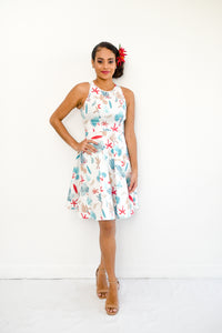 Tea Dress in tropical print - Malia Clothing Fiji - Made in Fiji