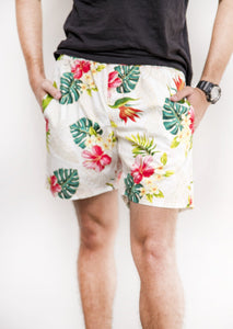 Mens Shorts in tropical print - Malia Clothing Fiji - Made in Fiji