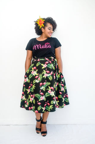 Wrap Skirt in tropical print - Malia Clothing Fiji - Made in Fiji