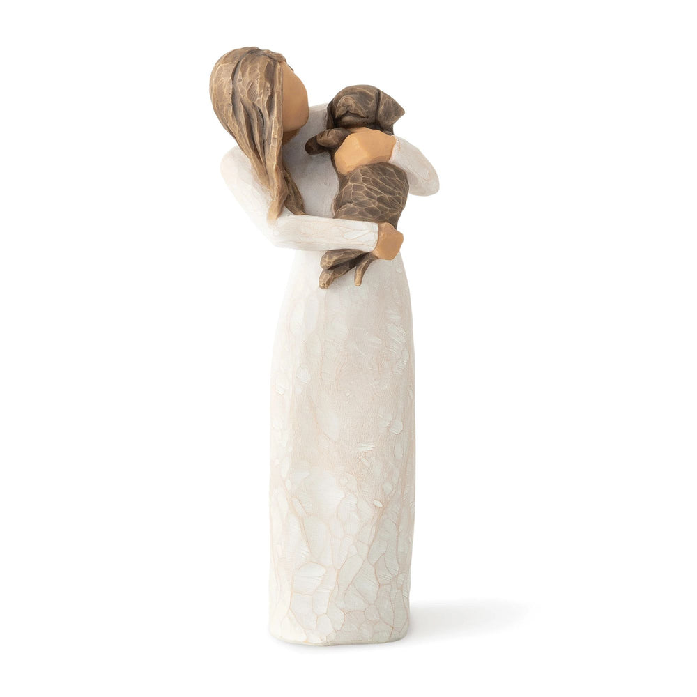 Adorable You (dark dog) Figurine by Willow Tree