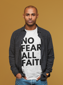 No Fear UNISEX Tee - WHITE w/black ink