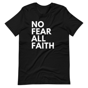 No Fear UNISEX Tee - BLACK w/White Ink