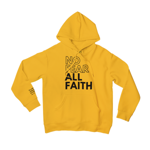Gold No Fear Scripture Hoodie