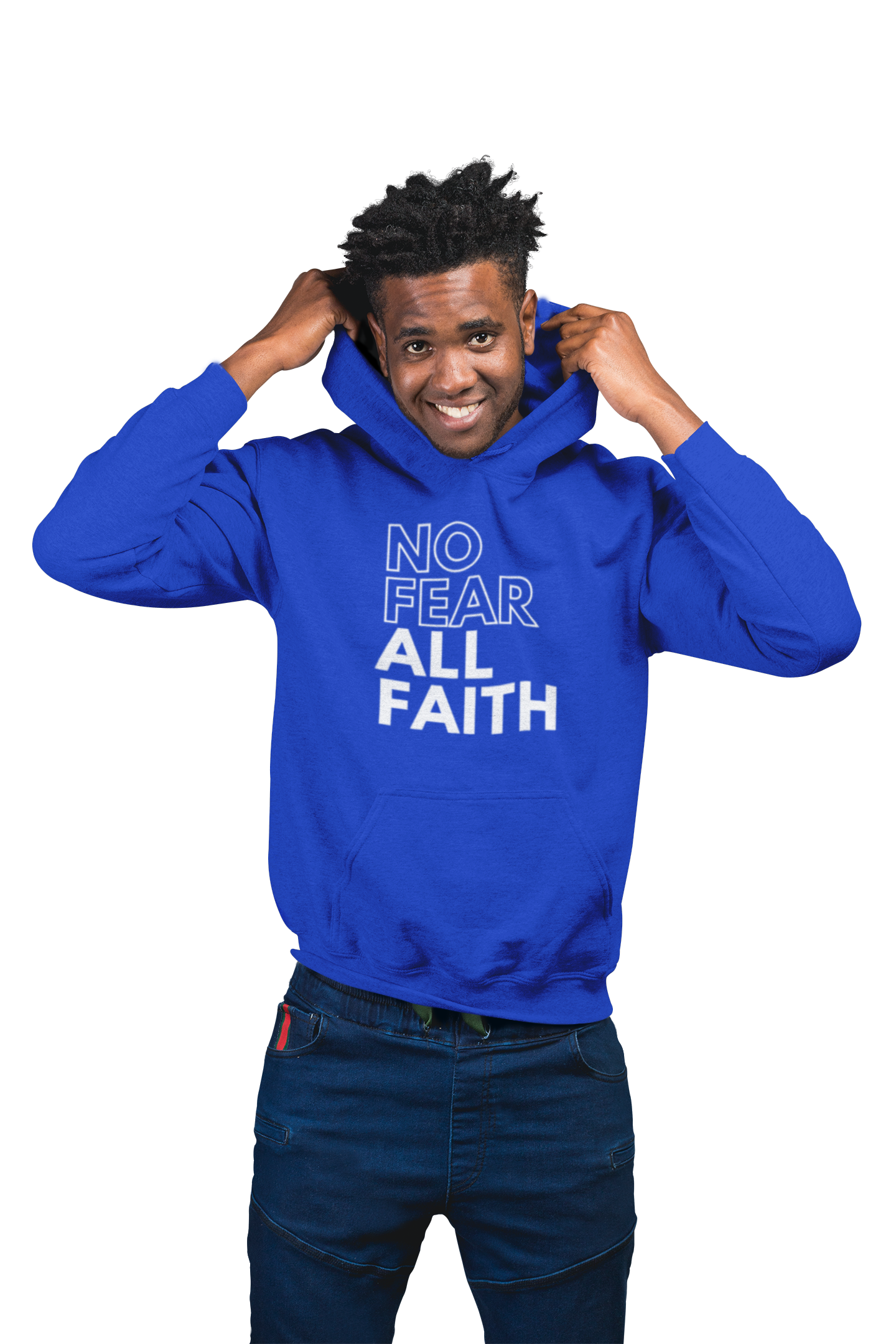 Royal Blue LIMITED EDITION No Fear Scripture Hoodie