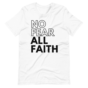 HYPE No Fear UNISEX Tee - WHITE w/Black Ink