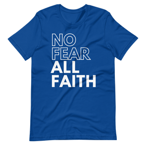 HYPE No Fear UNISEX Tee - ROYAL BLUE LIMITED EDITION w/White Ink