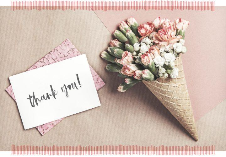 Saying Thank You with Flowers