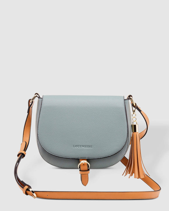Andrea Crossbody Bag (Slate/Tan)