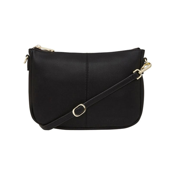 Small Bowery Shoulder Bag (Black Pebble)