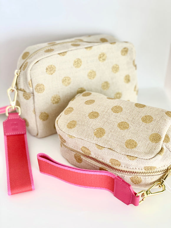 Gold Dot Makeup Bag (Small)