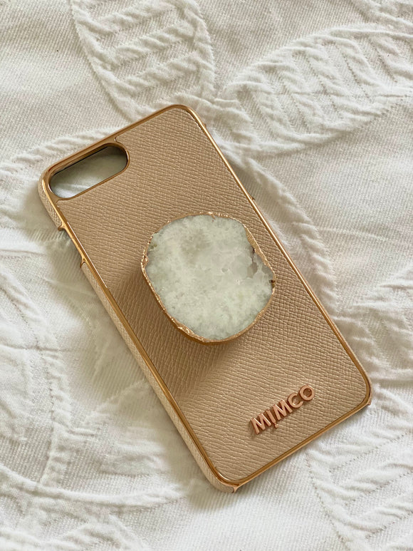 Pop Socket (White Druzy Crystal)