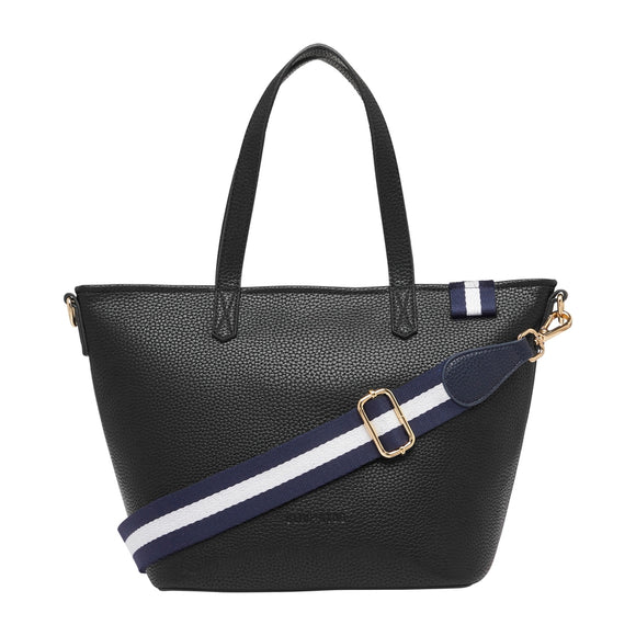 New York Zip Top Bag (Black Pebble)