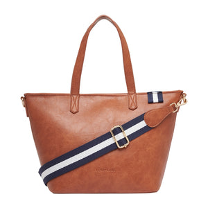 New York Zip Top Bag (Tan Pebble)