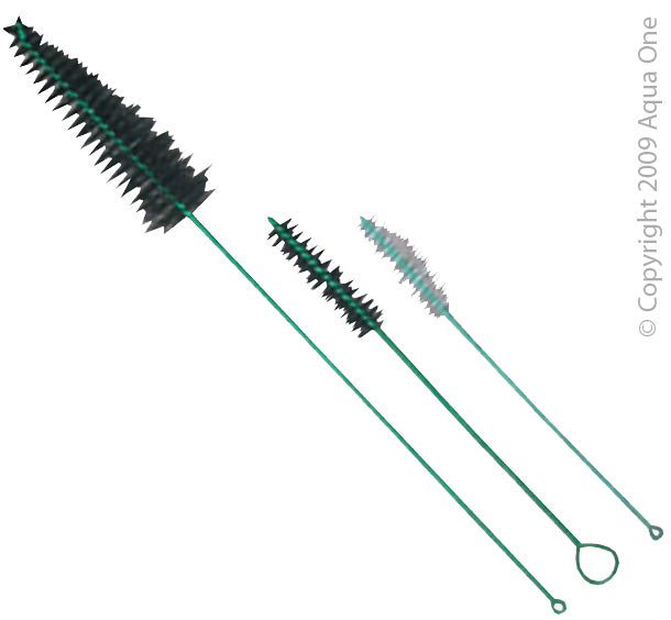 Aqua One Aquarium Filter Pipe Cleaner 3 Brush Set