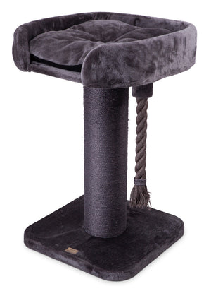 Kazoo High Bed Scratch Post with Rope | Charcoal