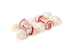 Kazoo Striped Knot Bones - 6cm, 5 pack, 70g