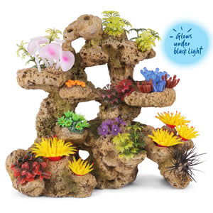 Kazoo Porous Coral Formation With Plants - X Large