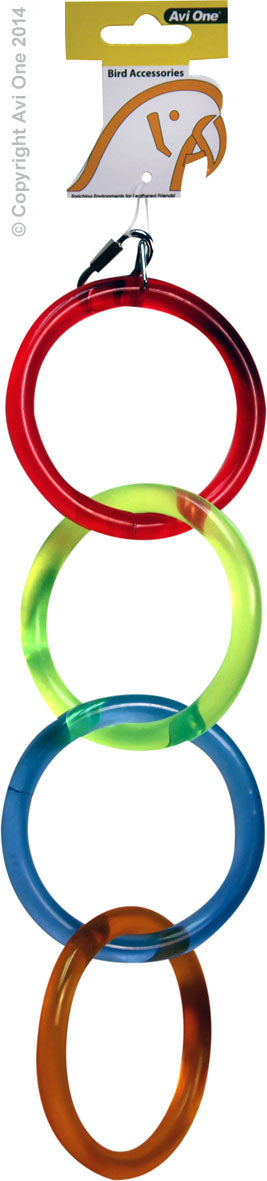 AVI ONE PARROT TOY ACRYLIC 4 RINGS