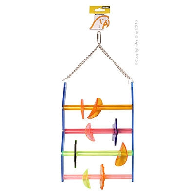 AVI ONE PARROT TOY ACRYLIC LADDER W/BEADS
