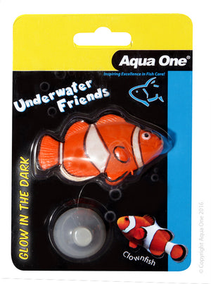 Aqua One Underwater Friends Glow in the Dark Clownfish