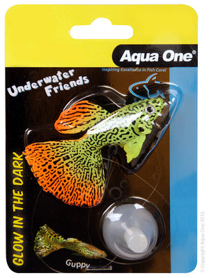 Aqua One Underwater Friends Glow in the Dark Guppy