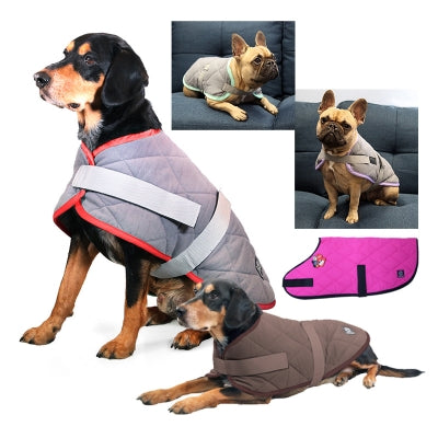 Pet One Night Sleeper Dog Coat - Grey / Purple