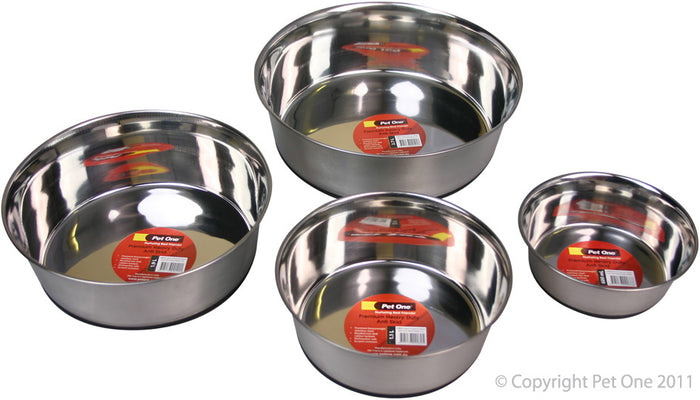 Pet One Premium Heavy Duty Anti Skid Stainless Steel Bowl