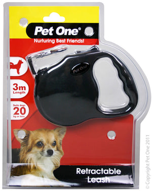 Leash Retractable 3 mtr upto 20kg Black