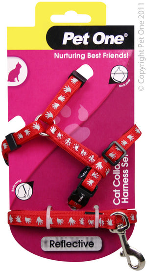 Pet One Reflective Harness & Lead Sets
