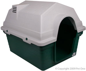 Pet One Plastic Kennels - Green