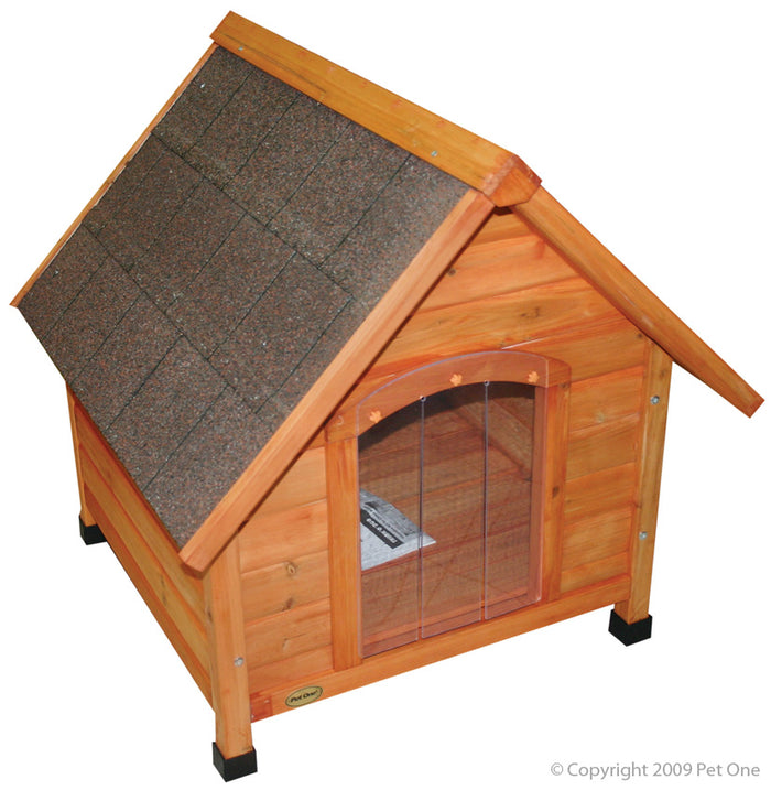 Pet One Kennel Chalet XL Timber Pitched Roof 96wx112dx105cm H
