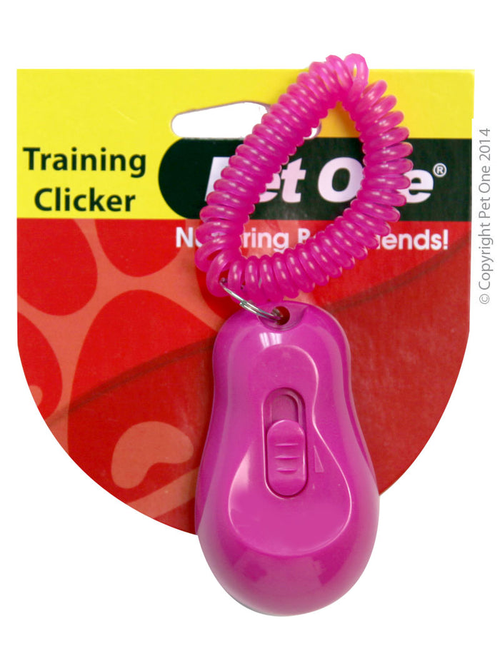 Pet One Training Clicker | Pink or Blue