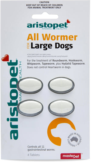 Aristopet All Wormer Tabs Dog Large 4pk
