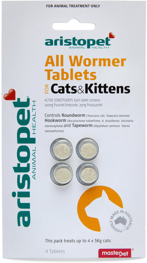 Aristopet All Wormer Tablets Cats & Kittens 4pk