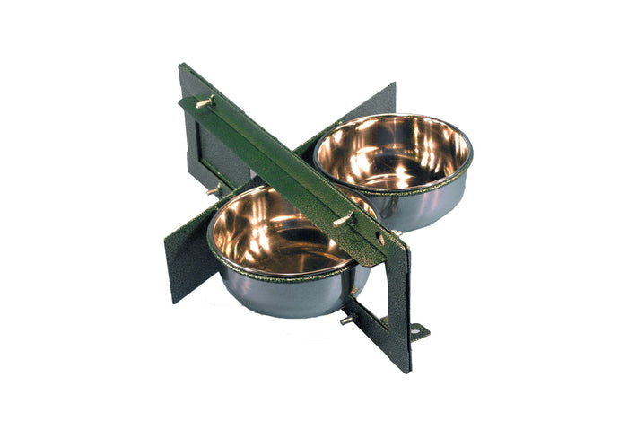 Showmaster Twin Swivel Feeders - 6inch Bowls